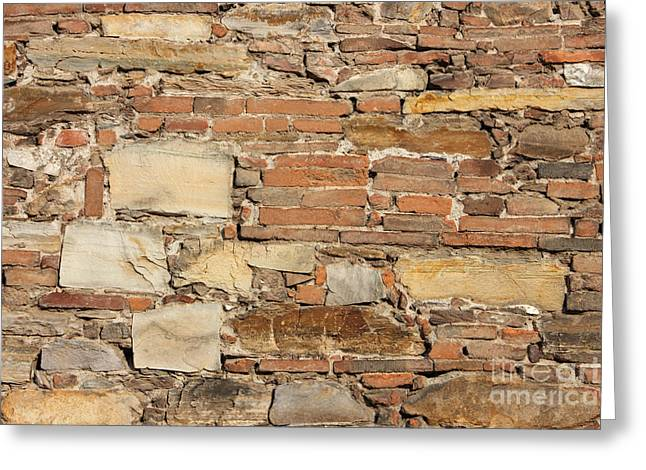 Stonewall Greeting Cards - Ancient church wall background Greeting Card by Kiril Stanchev