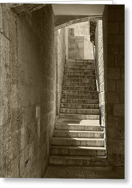 Entryway Greeting Cards - Ancient City Architecture No 1 Greeting Card by Ben and Raisa Gertsberg