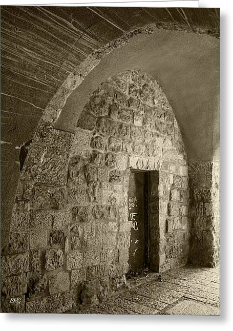 Entryway Greeting Cards - Ancient City Architecture No 3 Greeting Card by Ben and Raisa Gertsberg