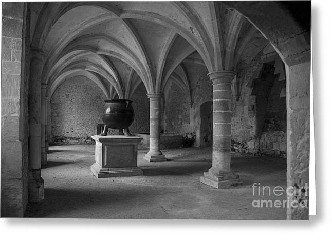 Bambers Greeting Cards - Ancient Cloisters. Greeting Card by Clare Bambers