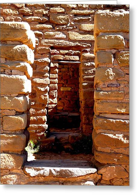 Early American Dwellings Greeting Cards - Ancient Doorways Greeting Card by Alan Socolik