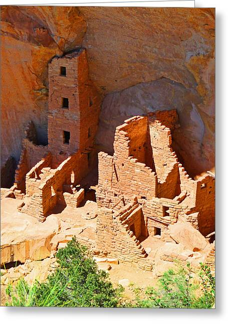 Overhang Greeting Cards - Ancient Dwelling Greeting Card by Alan Socolik