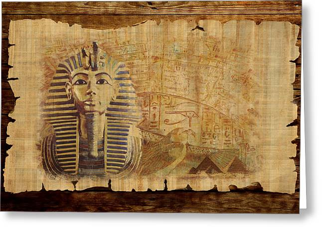 Pyramid Paintings Greeting Cards - Ancient Egypt Civilization 02 Greeting Card by Catf