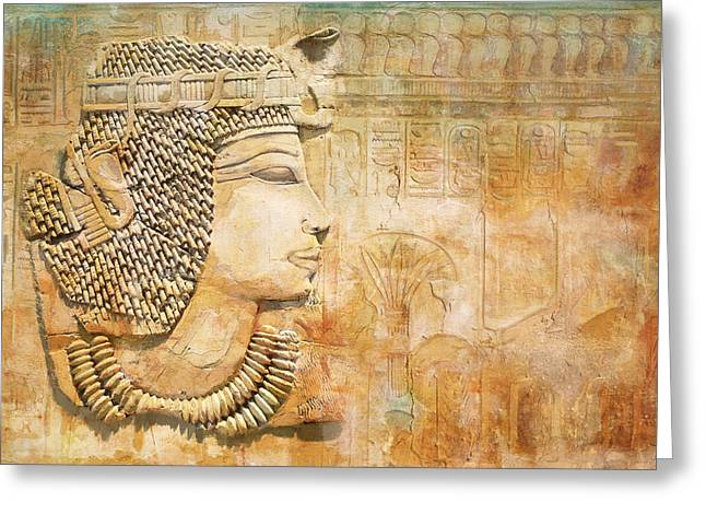 Pyramid Paintings Greeting Cards - Ancient Egypt Civilization 07 Greeting Card by Catf