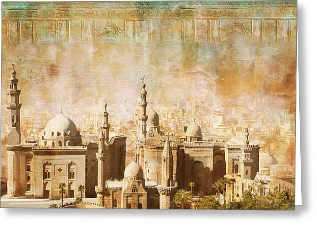 Pyramid Paintings Greeting Cards - Ancient Egypt Civilization Detail 04 Greeting Card by Catf