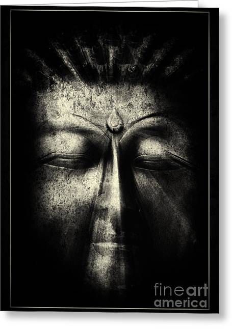Meditate Greeting Cards - Ancient Eyes Greeting Card by Tim Gainey