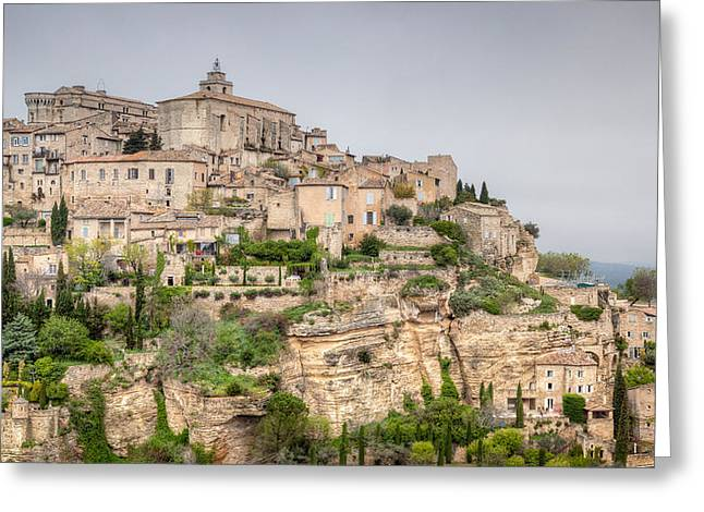 Chateau Greeting Cards - Ancient French Village Greeting Card by Joshua McDonough