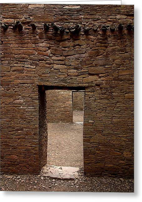 Chaco Canyon Greeting Cards - Ancient Gallery Greeting Card by Joe Kozlowski