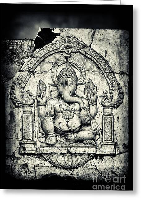 Obstacles Greeting Cards - Ancient Ganesha Greeting Card by Tim Gainey