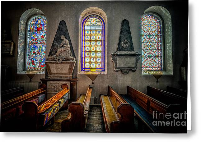 Religious Digital Greeting Cards - Ancient Glass Greeting Card by Adrian Evans
