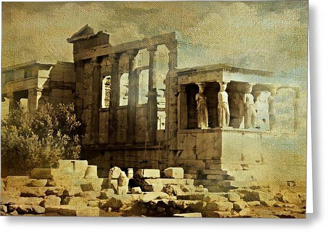 Caryatids Greeting Cards - Ancient Greece Greeting Card by Diana Angstadt
