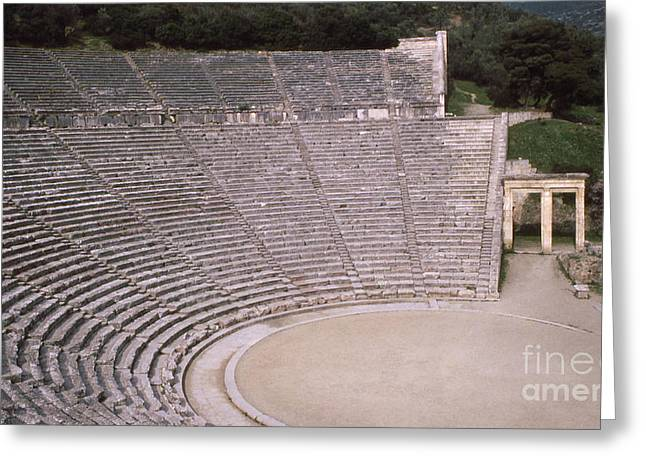 Open Air Theater Photographs Greeting Cards - Ancient Greece Greeting Card by Robert Edgar