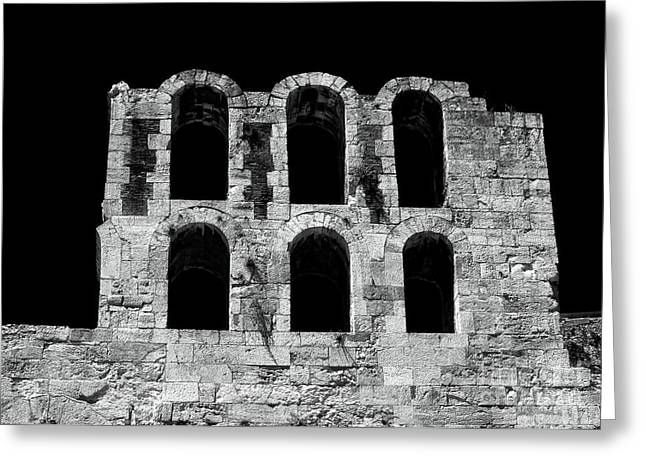 Ancient Greek Ruins Greeting Card by John Rizzuto