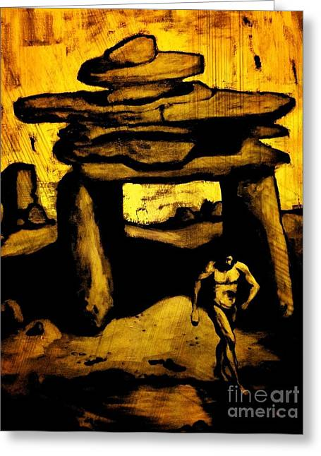 Halifax Art Work Greeting Cards - Ancient Grunge Greeting Card by John Malone