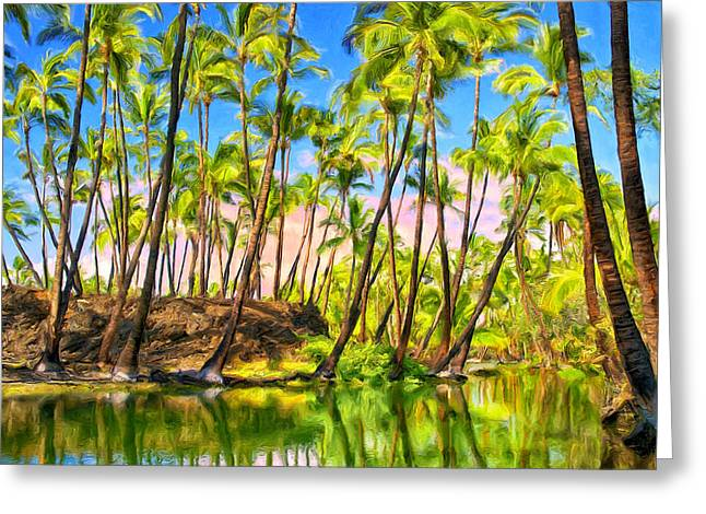 Honokaa Pond Greeting Cards - Ancient Hawaiian Fish Pond Greeting Card by Dominic Piperata