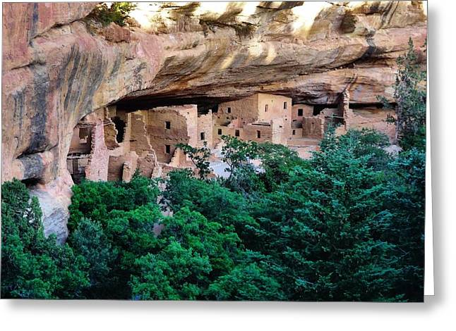 Cliff Dwellers Greeting Cards - Ancient Houses Greeting Card by Dan Sproul