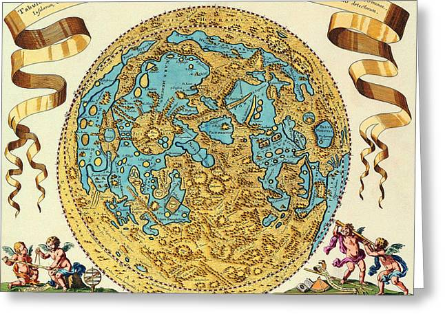 Paper Moon Greeting Cards - Ancient Map of the World Greeting Card by Gianfranco Weiss