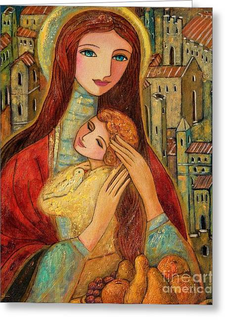 Mother And Child Greeting Cards Greeting Cards - Ancient Mother and Son Greeting Card by Shijun Munns