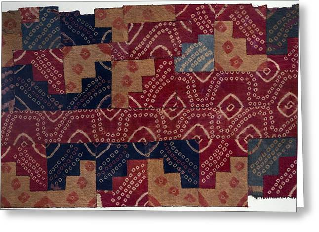 Nazca Greeting Cards - Ancient Peruvian fabric Greeting Card by Science Photo Library