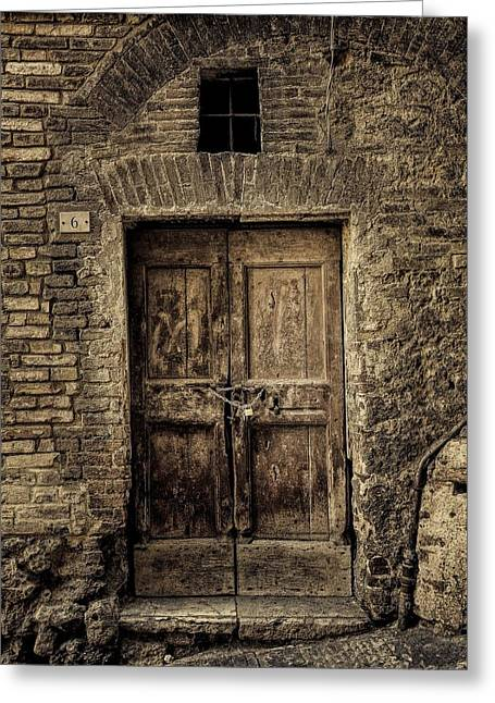 Sienna Italy Greeting Cards - Ancient portal Greeting Card by Gene Myers