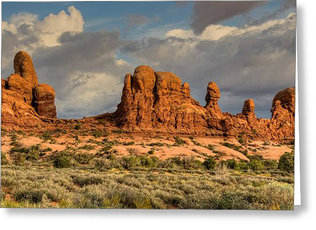 May 24 Greeting Cards - Ancient Rock Formations Greeting Card by Stephen  Johnson