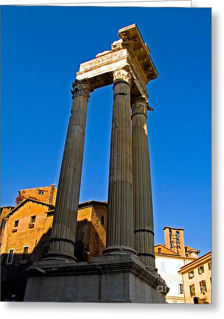 Marcelli Greeting Cards - Ancient Roman Columns Greeting Card by Tim Holt