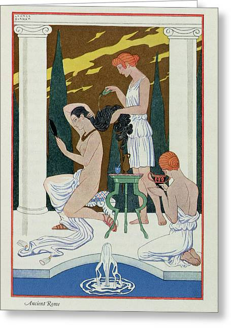 Attractiveness Greeting Cards - Ancient Rome Greeting Card by Georges Barbier