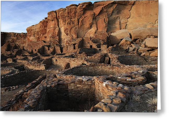 Chaco Canyon Greeting Cards - Ancient Ruins Greeting Card by Allen W Sanders