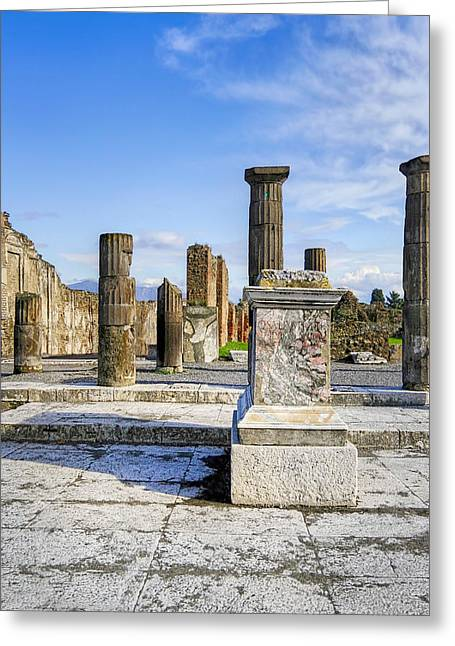 Ancient Ruins Greeting Cards - Ancient Ruins Of Pompeii Greeting Card by Mark Tisdale