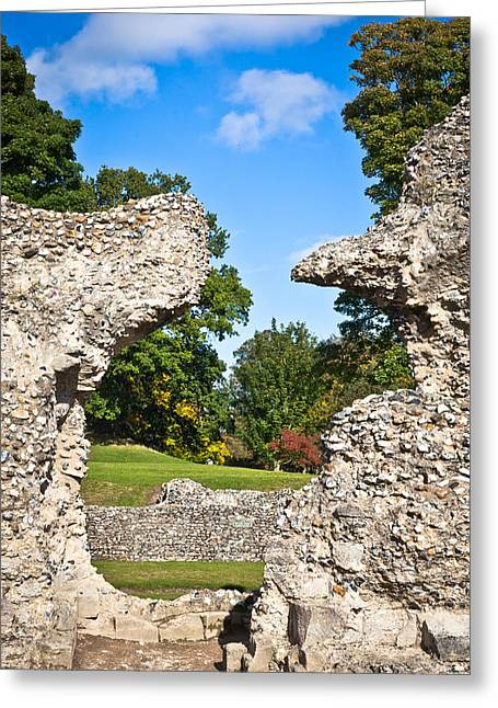 Historic England Greeting Cards - Ancient ruins Greeting Card by Tom Gowanlock