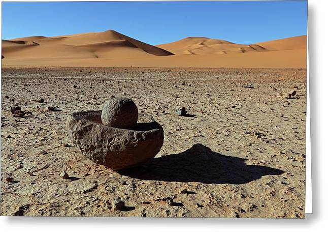 Ancient Saharan Mill Stone Greeting Card by Martin Rietze