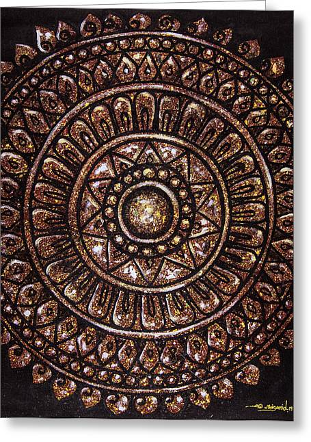 Sheild Greeting Cards - Asian Shield Greeting Card by Noisanid