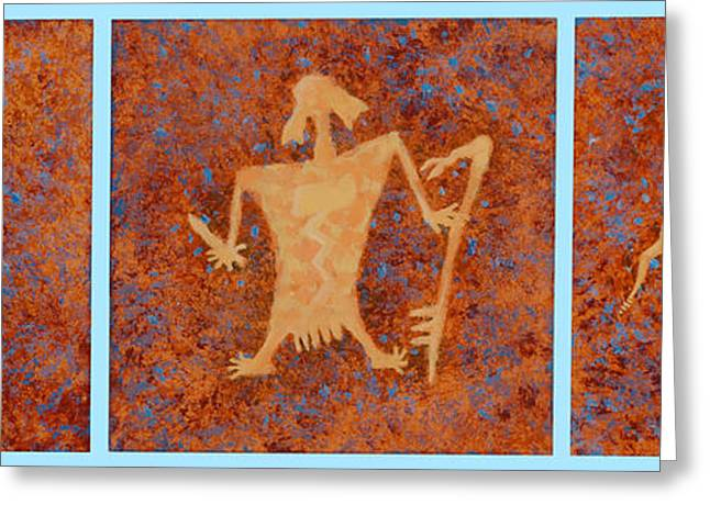 American Story Art Greeting Cards - Ancient Spirits Greeting Card by Jerry McElroy