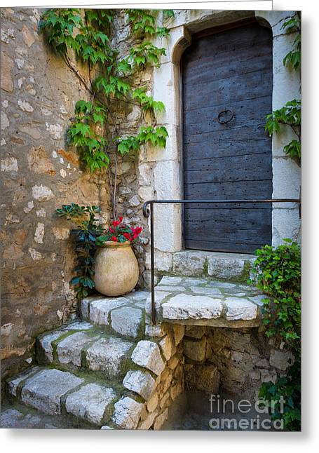 French Door Greeting Cards - Ancient Stairs Greeting Card by Inge Johnsson