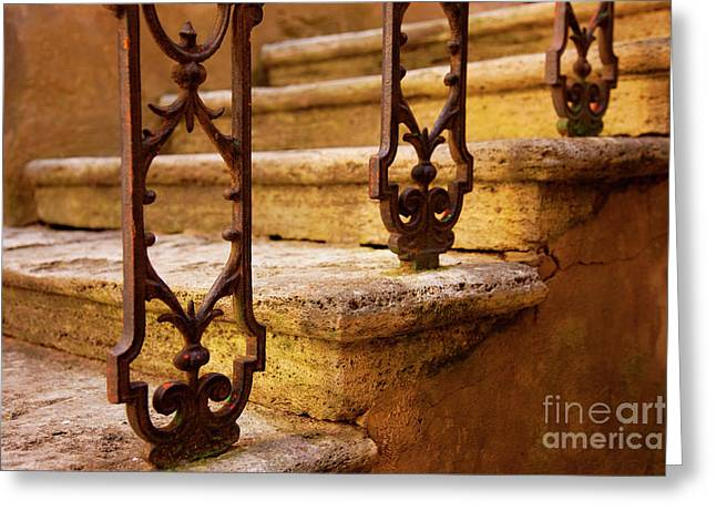 Recently Sold -  - Stepping Stones Greeting Cards - Ancient steps Greeting Card by Brian Jannsen