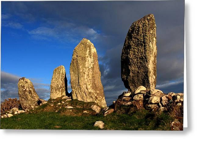Moran Greeting Cards - Ancient Stone Alignment Greeting Card by Aidan Moran