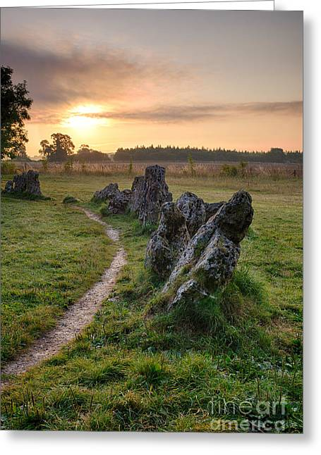 Standing Stones Greeting Cards - Ancient Stones Sunrise  Greeting Card by Tim Gainey