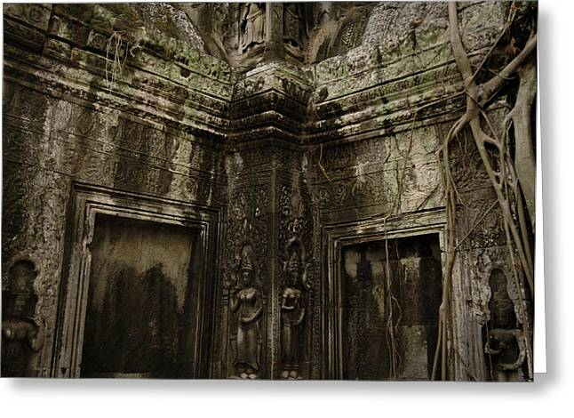 Temple Of Ta Prohm Greeting Cards - Ancient Ta Prohm Greeting Card by Shaun Higson
