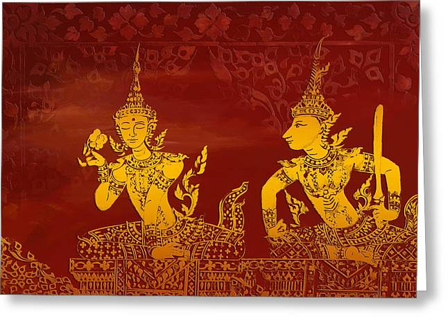 Ancient Art Greeting Cards - Ancient Traditions  Greeting Card by Corporate Art Task Force