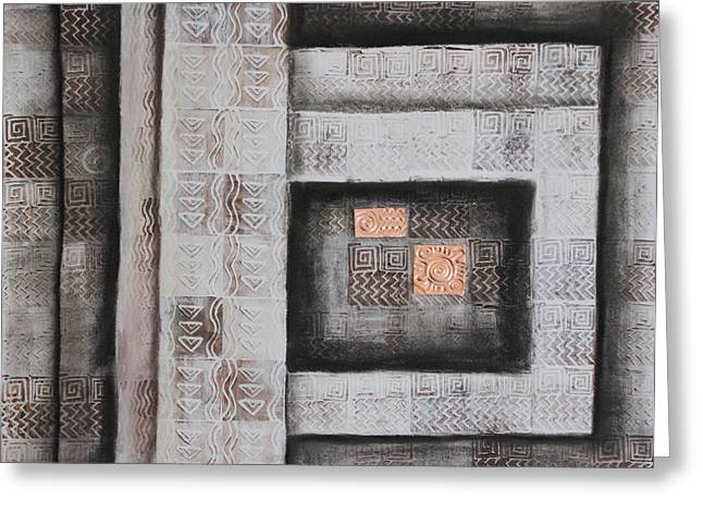 Sacrificial Mixed Media Greeting Cards - Ancient Treasury Greeting Card by Diana Perfect