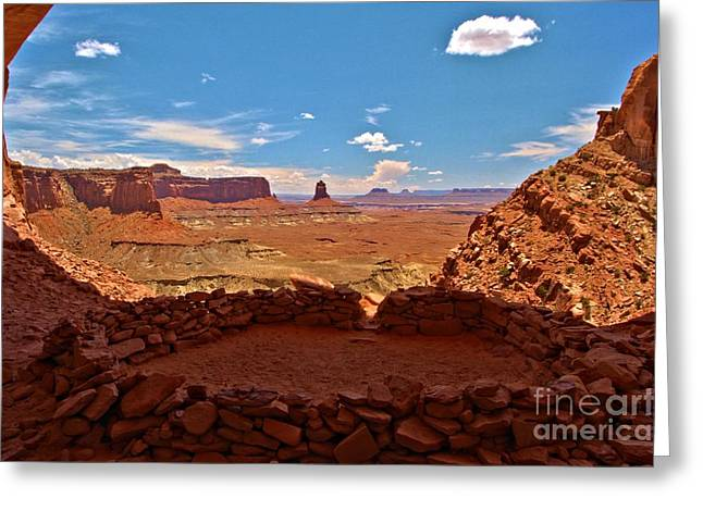 Ancient Ruins Greeting Cards - Ancient Viewpoint Greeting Card by Adam Jewell
