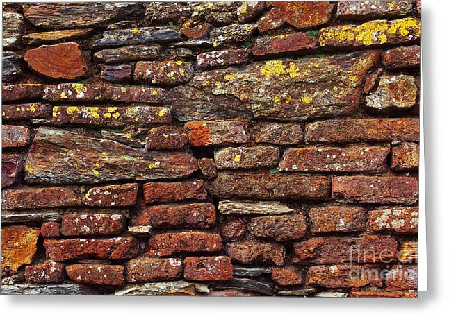 Ancient Wall Greeting Card by Carlos Caetano
