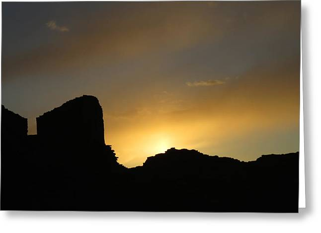 Ancient Walls Against The Sunset Greeting Card by Feva  Fotos