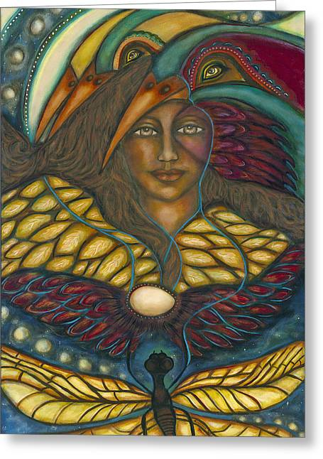 Visionary Artist Paintings Greeting Cards - Ancient Wisdom Greeting Card by Marie Howell Gallery