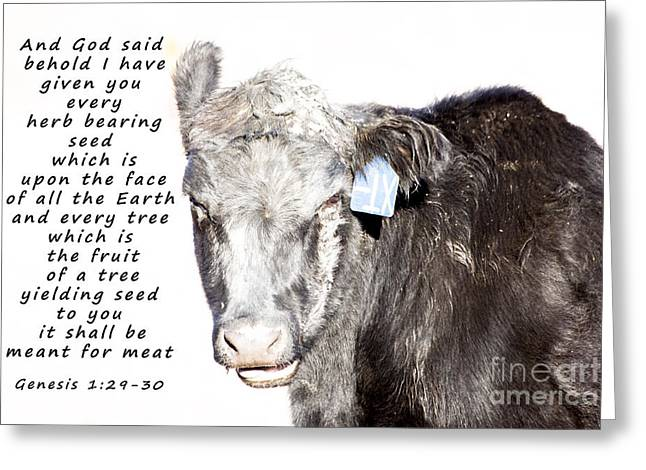 Eat Free Greeting Cards - And God Said Greeting Card by Janice Rae Pariza