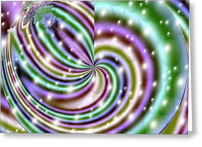 Fractal Orbs Greeting Cards - And He Called Them Stars Greeting Card by Luther   Fine Art