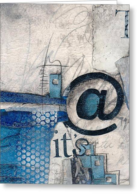 Abstract Collage Greeting Cards - And its Just Winter Drama  Greeting Card by Laura  Lein-Svencner
