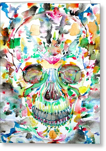 Santeria Greeting Cards - And Joining At Last Its Mighty Origin Greeting Card by Fabrizio Cassetta