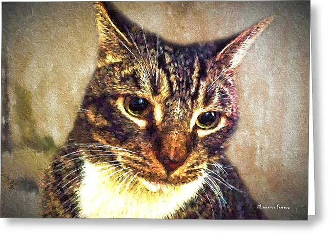 Photos Of Cats Digital Greeting Cards - And My Cat Greeting Card by Larry Ferreira