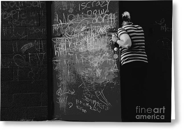 Children In Trouble Greeting Cards - and PUT THE CHALK UP Greeting Card by Joe Jake Pratt